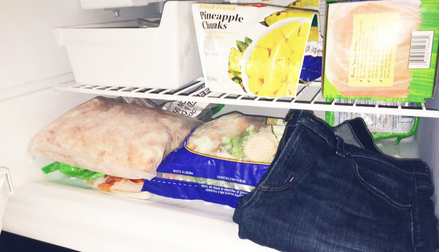 Should You Put Your Jeans In The Freezer Instead Of The Wash