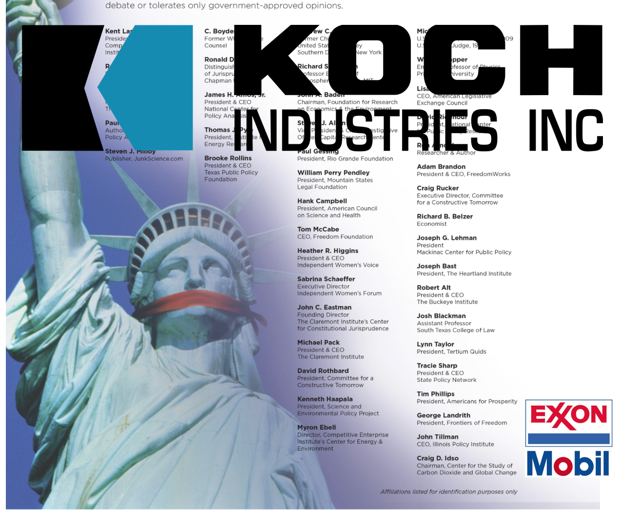 Koch Brothers Gave $21 Million To Groups Defending ExxonMobil's Climate Cover-up