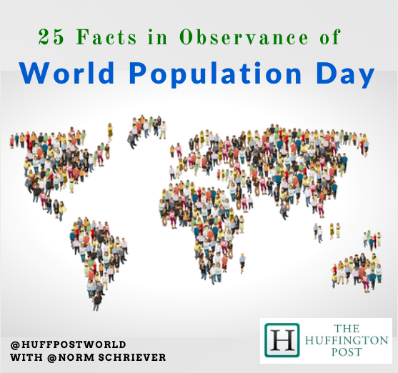 25 Facts in Observance of World Population Day July 11 | HuffPost