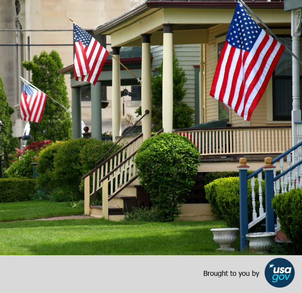 Usagov 39 s guide to displaying the american flag huffpost for Proper placement of american flag