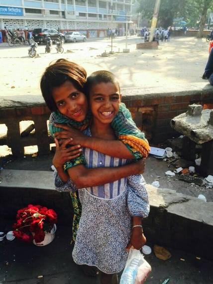 バングラデシュのストリートチルドレン