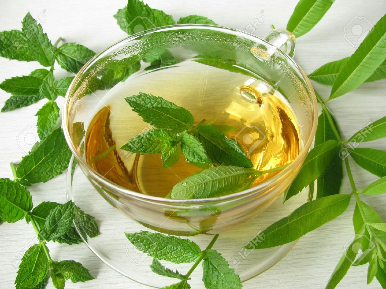 how to make peppermint tea leaves
