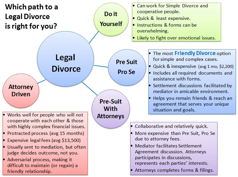 4 Ways To Get Divorced: Is Pre-Suit Pro Se Right For You