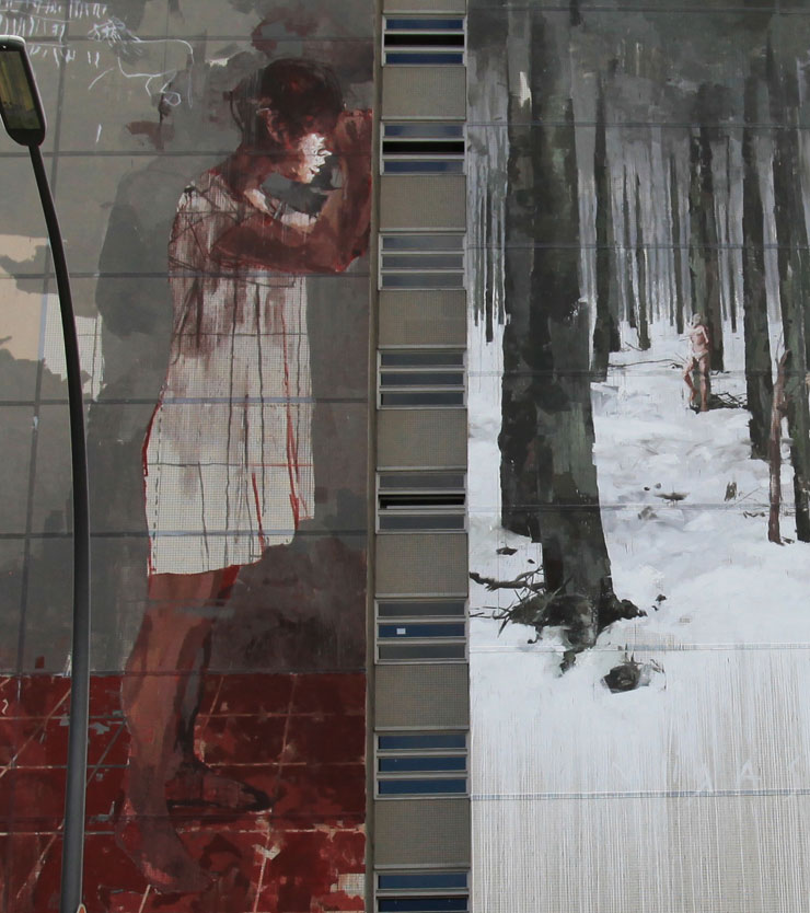 Borondo and a blood battle in berlin about his mural for Blood in blood out mural