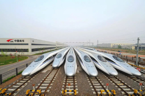 China's high-speed trains seemingly show the country's efforts to complete the basic blueprint of its One Belt One Road initiative by becoming a high-speed rail power in Asia./ Source: Xinhua News Agency