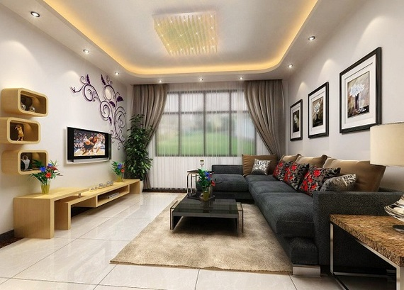 Theme your house right 3 little things that affect the for Showroom living room ideas
