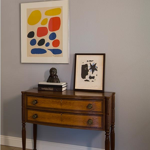 Living With Art Series: Library Vignette -- Artwork By Georges Braque and Alexander Calder