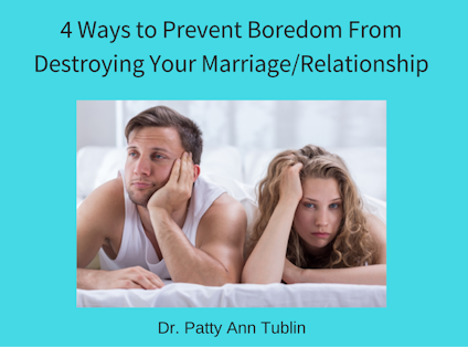 How to overcome boredom in marriage