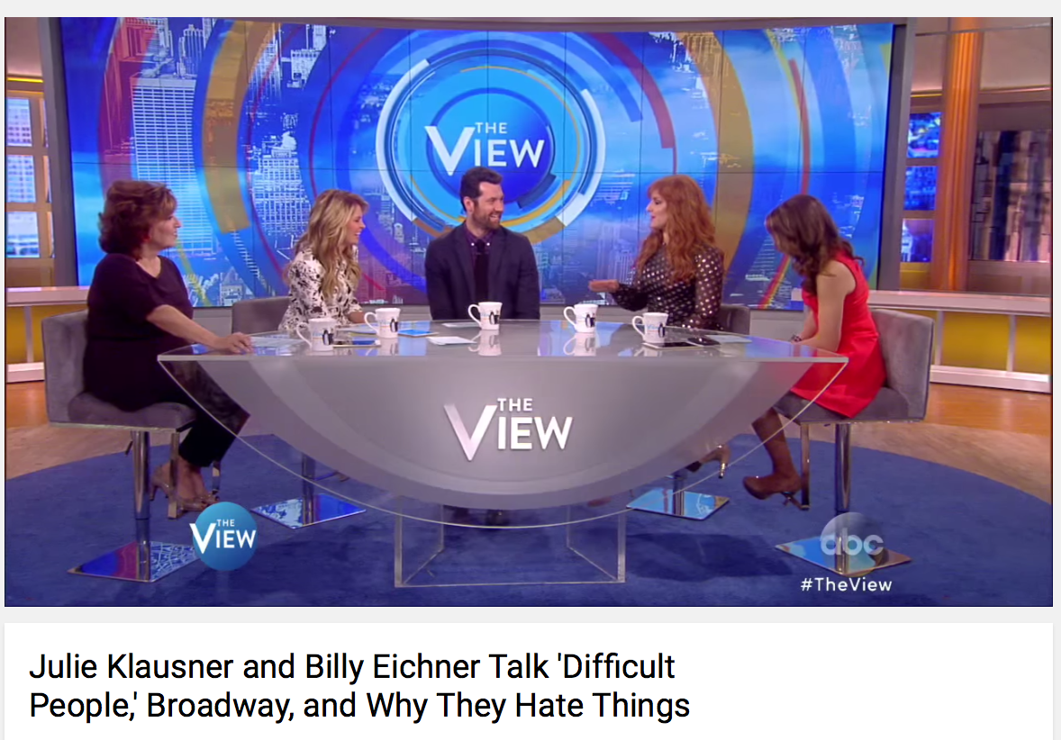Billy Eichner and Julie Klausner on The View