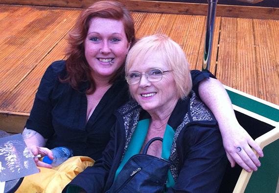 Gemma Speht with mother Nicola Watts