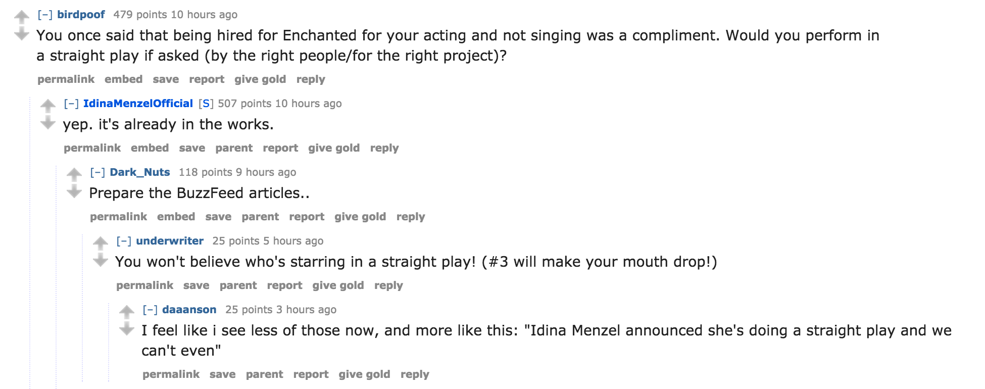 Idina Menzel Announced She\'s Doing a Straight Play and We Can\'t Even ...