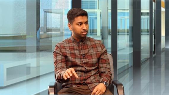 Shuhel Ahmed, a filmmaker from East London, talked about his upcoming short film series for the first time on Youth Corner (Photo credit: LB24tv)