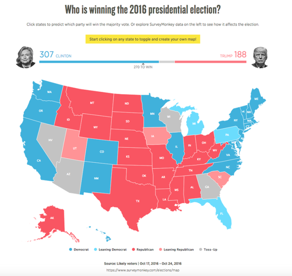 Electoral College Map Why Looks Different Than HuffPost - Huffington post us election map