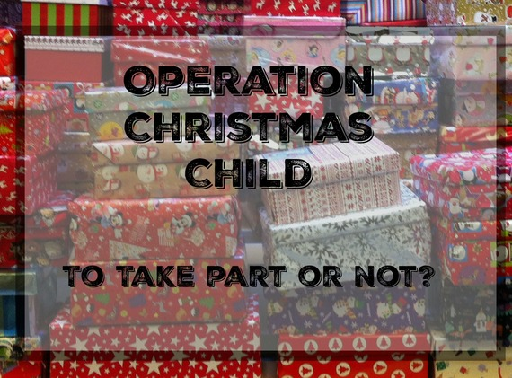 Eight reasons not to take part in a shoe box appeal operation