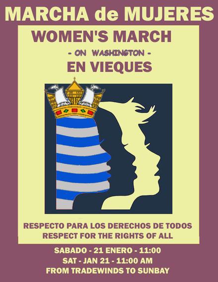 (VIDEO) Women's March on Washington Reaches Caribbean Island of Vieques, Puerto Rico