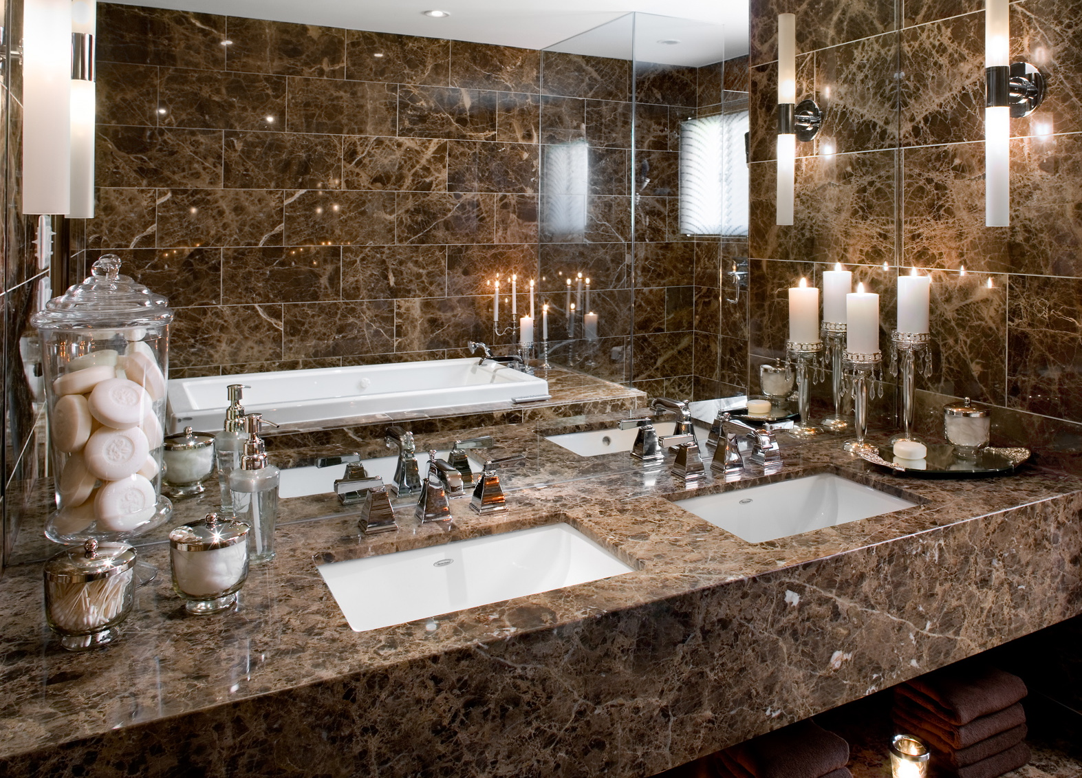 Bring Hotel Style To Your Bathroom Vanity