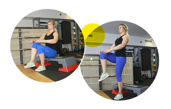 Single Leg Box Squats with Personal Trainer Michael Betts & TRAINFITNESS