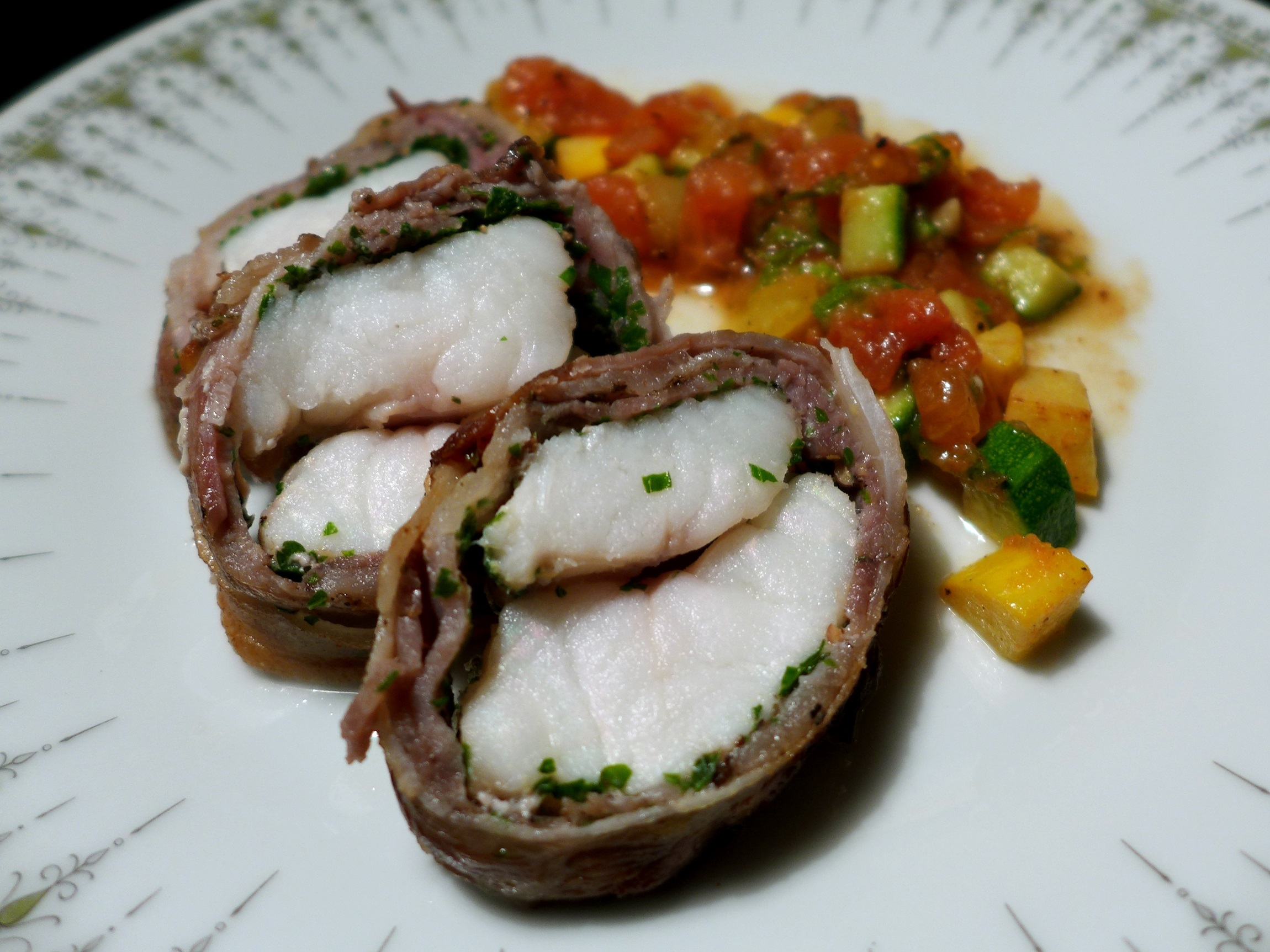 Monkfish Wrapped In Bacon