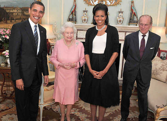 Obama Meets Queen Elizabeth II At Buckingham Palace