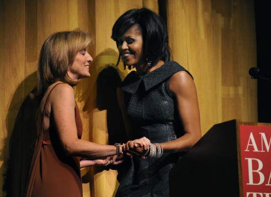 michelle Obama and Caroline Kennedy at Metropolitan Museum of Art