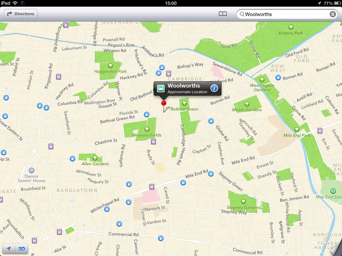 apple maps woolworths