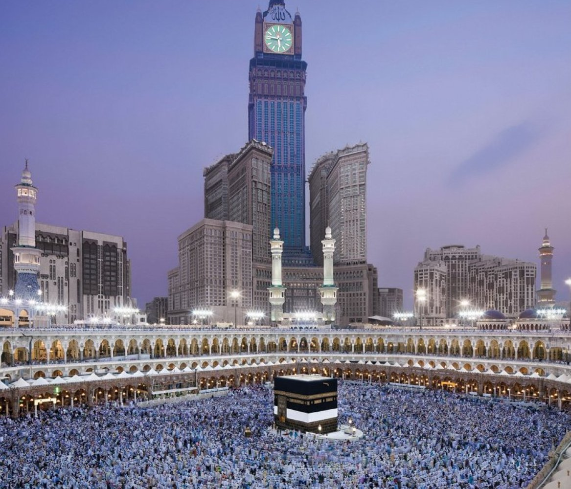 Biggest Clock Tower: Abraj Al-Bait Clock Tower, Mecca, Saudi Arabia