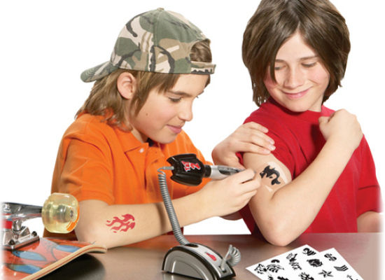 Sure there are plenty of kid tattoos for sale out there, but they don't