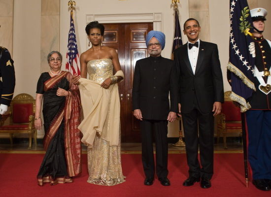 Singh visits Obama: When the bee comes to your house, let her have beer; you may want to visit the bee's house some day