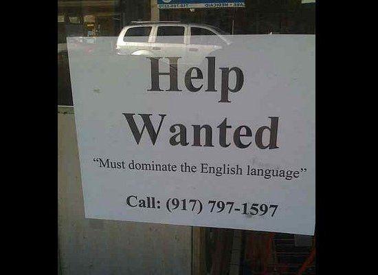 Funny  U0026quot Help Wanted U0026quot  Signs