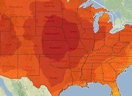 Climate Change Map (DailyKos)