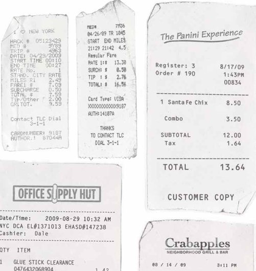 restaurant expense report