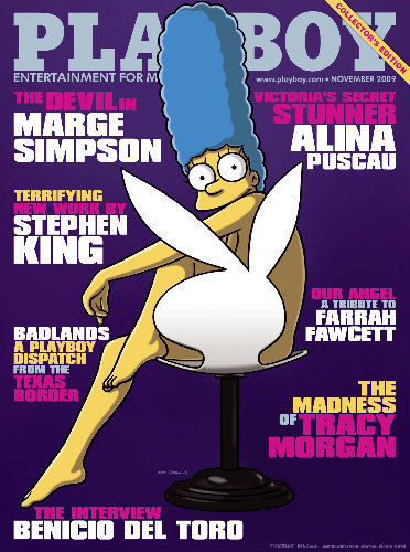 Marge Simpson S Playboy Cover Photo Huffpost