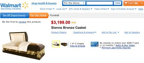 Walmart Caskets For Sale Online, Starting At $999 (PHOTOS) | HuffPost