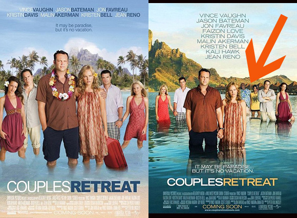 Couples Retreat Poster In Uk Removes Black Couple Huffpost