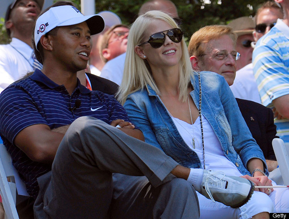 tiger woods wife elin. Tiger Woods and his wife.