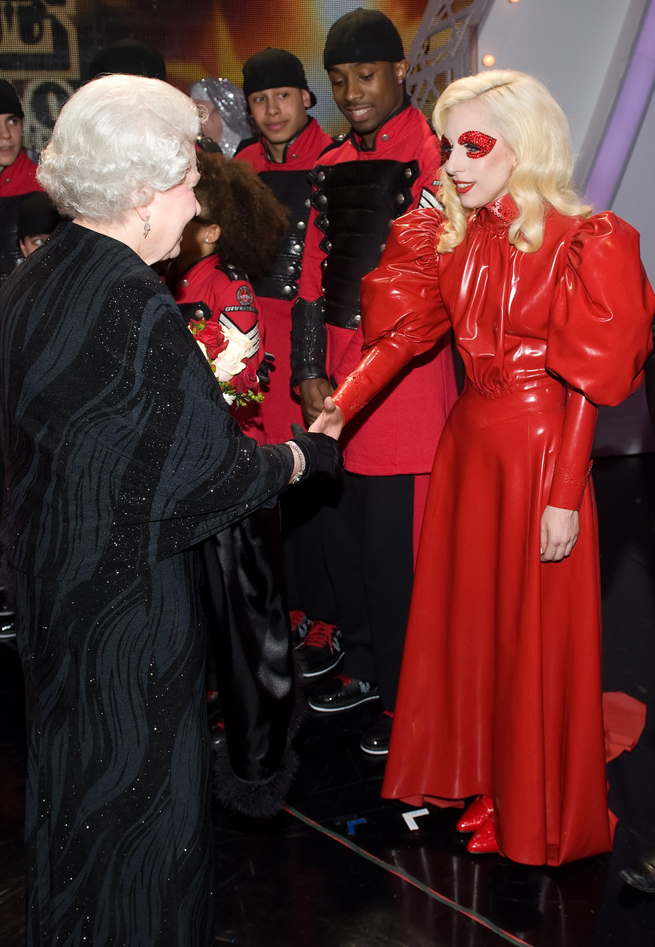 Lady Gaga Meets The Queen Photos Huffpost