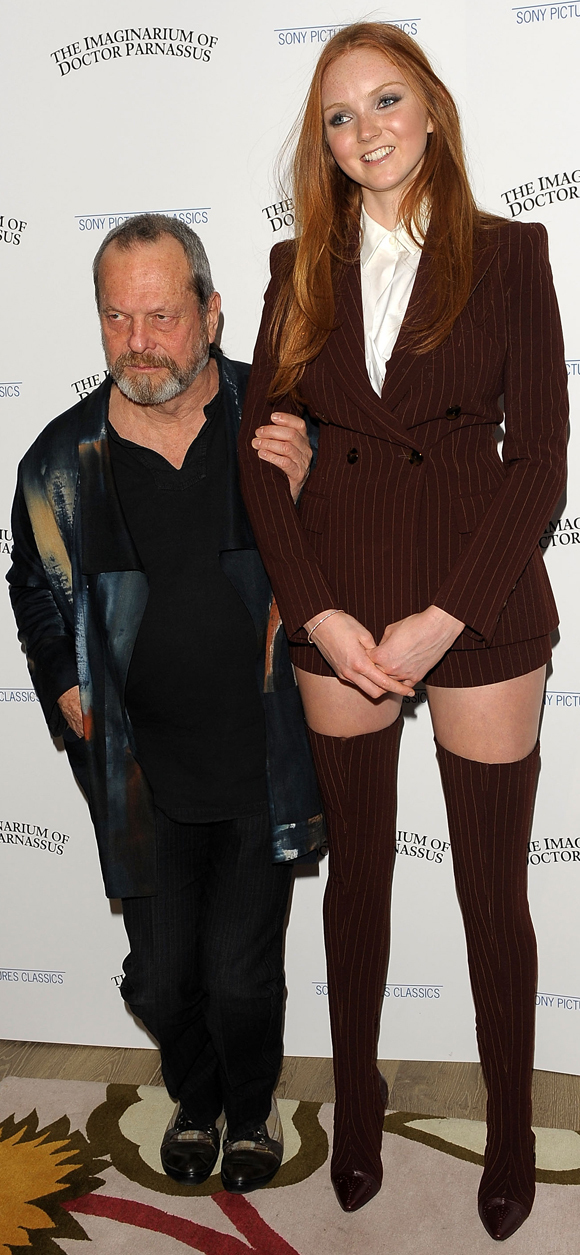 Lily Cole Amp Terry Gilliam Premiere The Imaginarium Of Doctor Parnassus Photos Huffpost