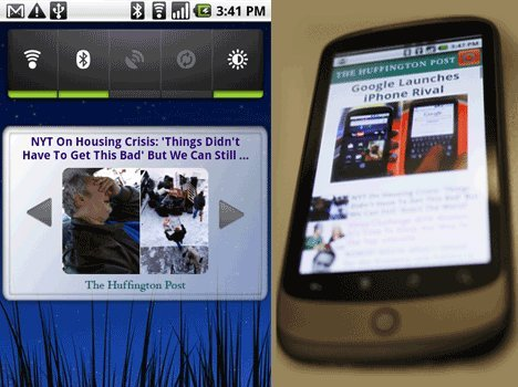 Google Phone Huffington Post