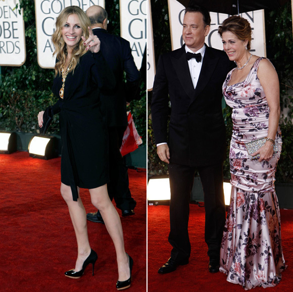 Tom Hanks & Julia Roberts Mock NBC At Golden Globes (VIDEO)