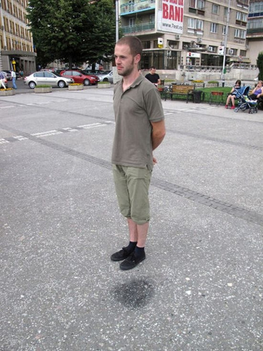 Floating Person Illusion