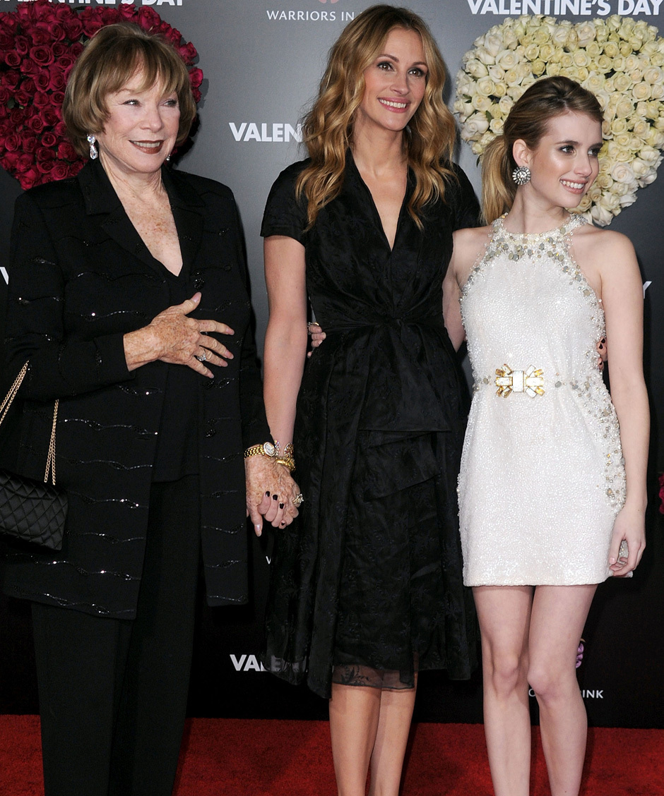 Julia Roberts' Hot Dates: Shirley MacLaine & Niece Emma ...