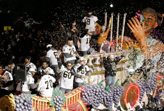 Saints Super Bowl Parade PICTURES: Photos From New Orleans ...
