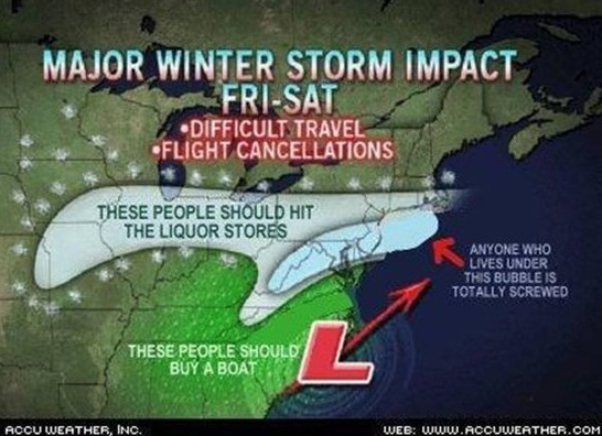 Funny And Honest Weather Map Picture