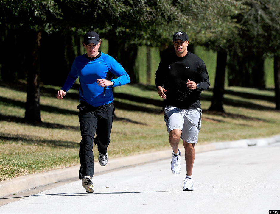 tiger woods u0026 39  jogging pictures  new photos show golfer