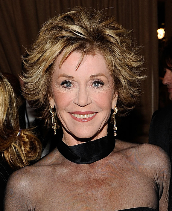 jane fonda hair. Below is a photo of Fonda on