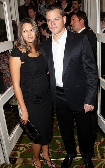 Matt Damon And Wife Luciana ...