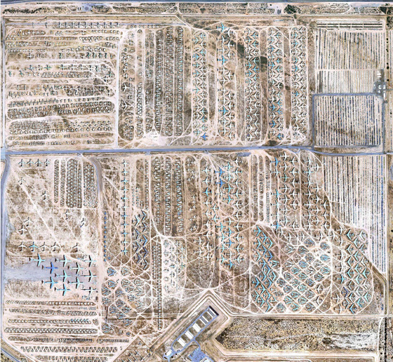 Ton Of Topsoil >> The 'Boneyard,' World's Biggest Plane Cemetery, Revealed By Google Earth (PHOTOS) | HuffPost