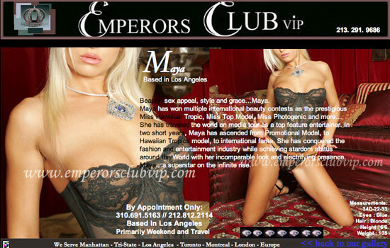 Emperors club escorts