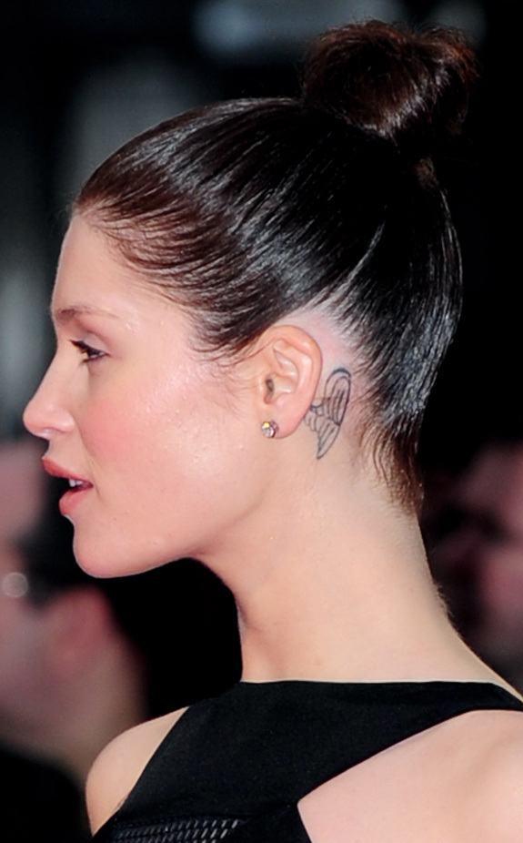 Bond Girl Gemma Arterton Gets Angel Tattoo