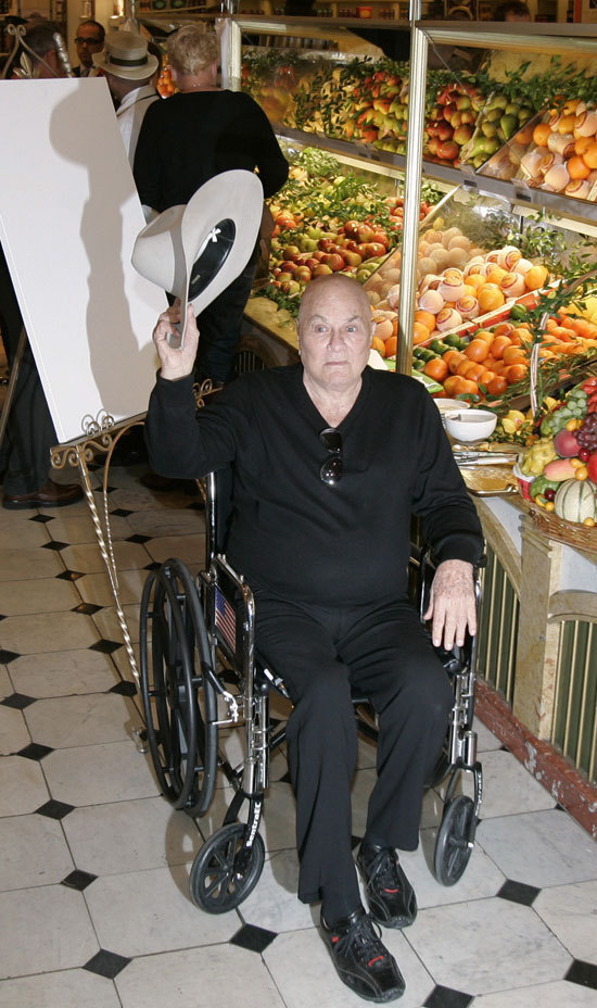 Tony Curtis At Harrods Frail Bald And Wheelchair Bound